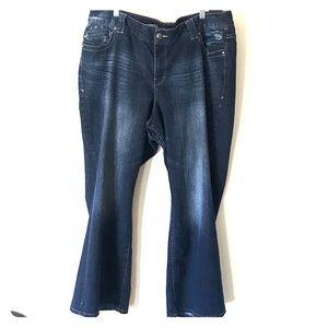 LANE BRYANT Lightly Flared Stretch Denim Jeans